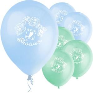 blå ballonger babyshower