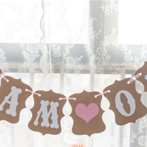 Babyshower dekoration girlang I am one