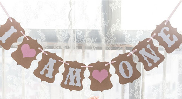I-am-one-girlang-babyshower-dekoration