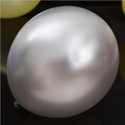 Silver ballonger i metallic look, snygga dekorationer till dop, kalas, fest och babyshower.