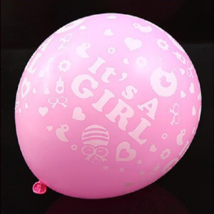 rosa babyshower ballonger it's a girl