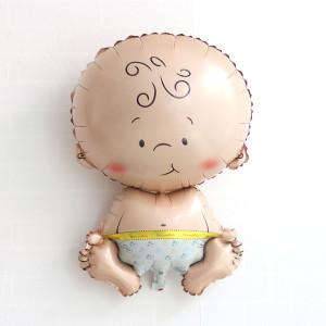 neutral babyshower ballong när man ännu inte vet kön på bebis