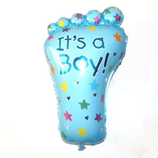 its-a-boy-folieballong-blå-fot