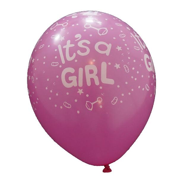 mörkrosa-ballong-its-a-girl-3