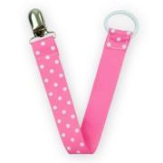 napphållare rosa polka dot