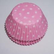 muffinsformar 100 st baby rosa för babyshower och dopfest.