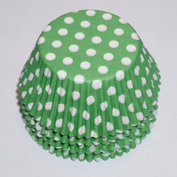 muffinsformar-gron-med-vita-prickar