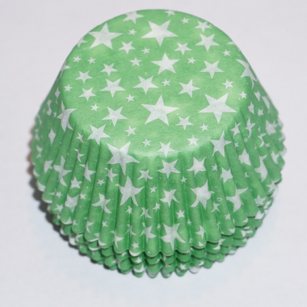 muffinsformar-gron-med-vita-stjarnor