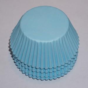 muffinsformar ljusblå passande till baby shower, dop, fest och kalas med blått tema