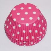 muffinsformar rosa vita med prickar till baby shower och dop