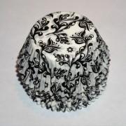 100 st muffinsformar svarta och vita med snyggt mönster.