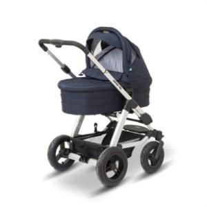 populär liggvagn med liggdel fungerar som duovagn, liggvagnar används under barnets första tid.