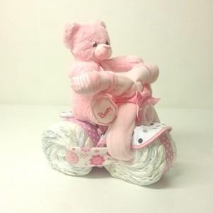 blöjmotorcykel flicka - cool blöjtårta i form av en motorcykel rolig present till Baby Shower