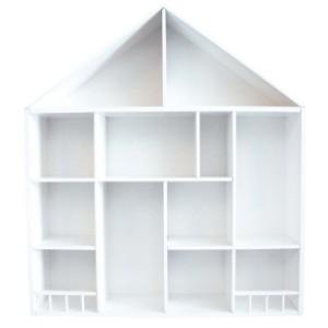 barnmöbler förvaring hylla i form av ett hus till barnrummet.