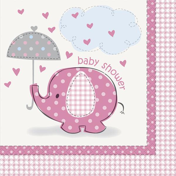 baby shower rosa servetter till dukning