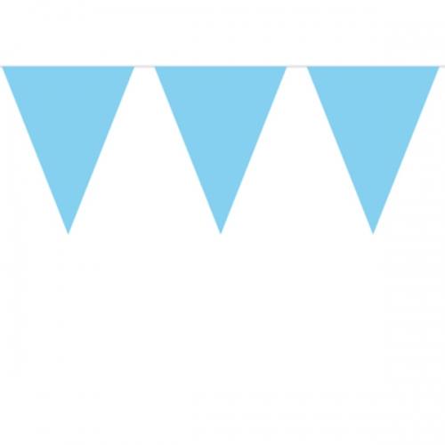 baby shower dekorationer ljusblå flaggirland