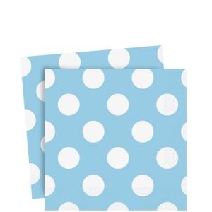 blå servetter till dop eller baby shower
