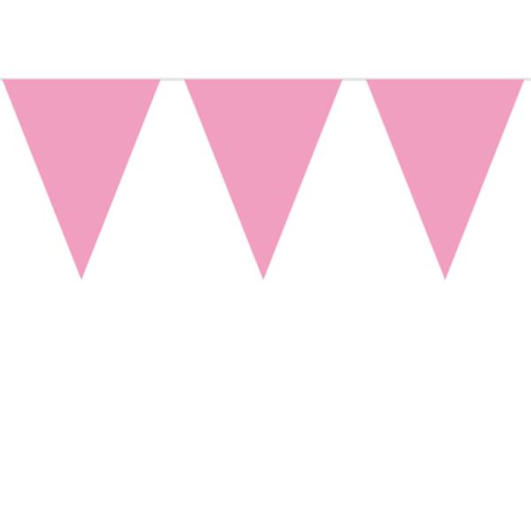 rosa flaggirlang för dop eller babyshower