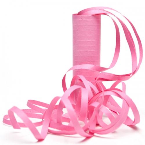 serpentin rosa till baby shower dekoration