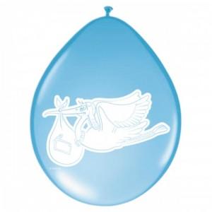 blå ballonger till dop eller babyshower