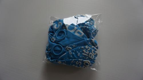 "paket med 10 st ljusblå ballonger till babyshower dekoration. ""it's a boy"""