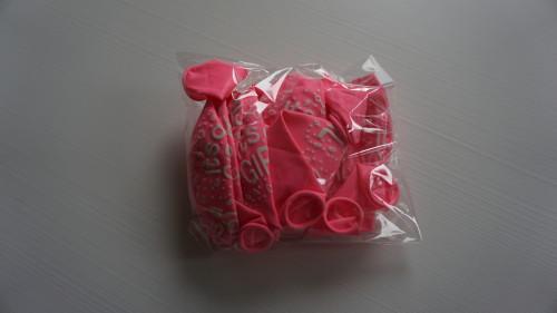 rosa babyshower ballonger I'ts a girl, dekorera till baby shower mer ballonger