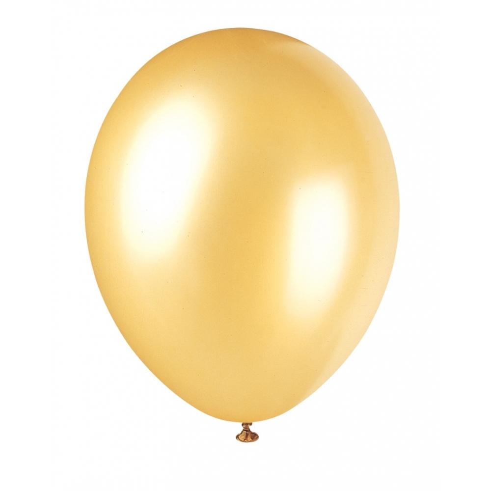 snygga ballonger guld - snygga ballonger i guldmetallic passar att dekorera med säljs i 10 pack.
