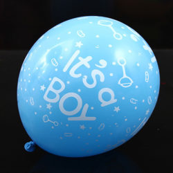 10 st blå babyshower ballonger till baby shower dekoration, it's a boy