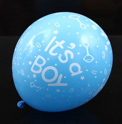 10 st blå babyshower ballonger till baby shower dekoration, it's a boy