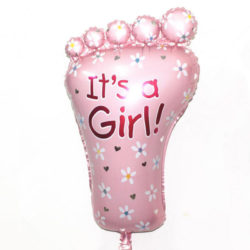 It's a girl folieballong till babyshower