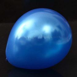 Snygga mörkblå ballonger i metallic för babyshower eller dopfest