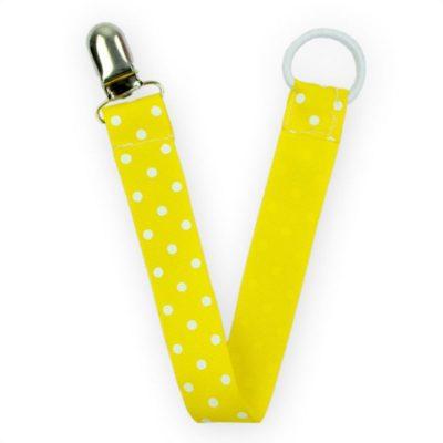 gul napphållare, present till dop eller baby shower.