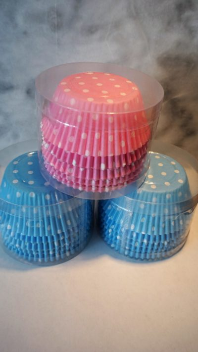 Muffinsformar i rosa och blått, 100 st