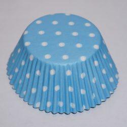 muffinsformar ljusblå till baby shower, dop, fest och kalas.